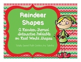 Reindeer Shapes Interactive Notebook Shutter Fold