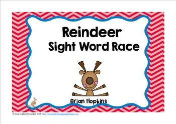 Reindeer Sight Word Race