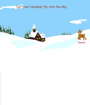 Reindeer Smart Board Attendance