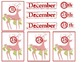 Reindeer Stockings Advent Christmas Cards Do-It-Yourself