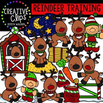 Reindeer Training {Creative Clips Digital Clipart}