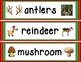 Reindeer Vocabulary Cards