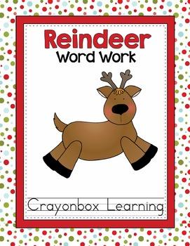 Reindeer Word Work - Learning Center - Christmas