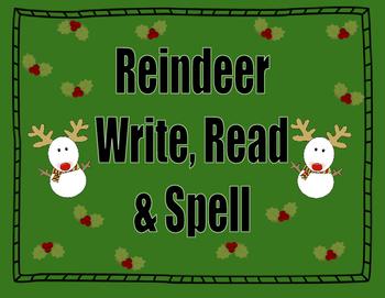 Reindeer Write, Read, & Spell