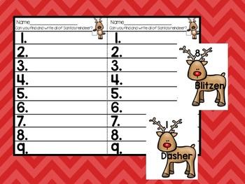 Reindeer Write the Room Freebie