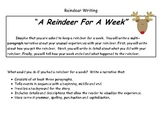 Reindeer for a Week Writing and Rubric