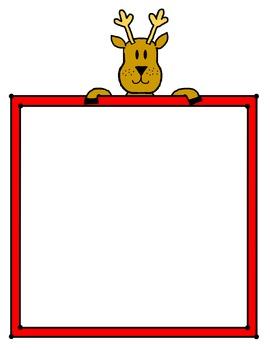 Reindeer with frame