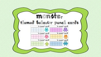 Reinforce Positive Behavior! Punch Cards - Monster Theme