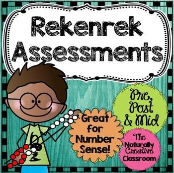 Rekenrek Pre, Mid and Post Assessments