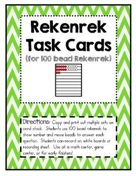 Rekenrek Task Cards for the 100 Bead Rekenrek