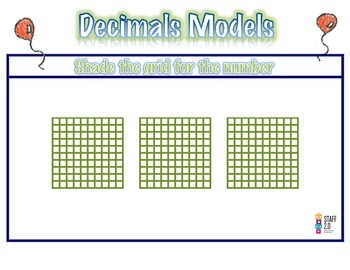 Relate Decimal. Shading the Grids. Math Center 3-5. Dual (