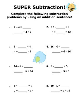 Related Facts - Addition and Subtraction