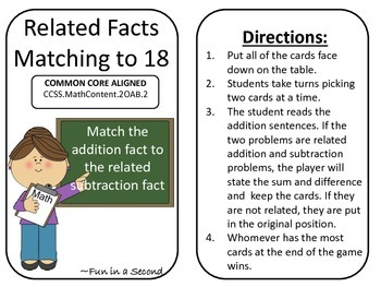 Related Facts: Addition and Subtraction to 20