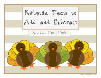 Related Facts to add and subtract {TURKEY Theme}