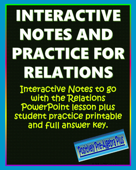 Relations Interactive Notes and Practice