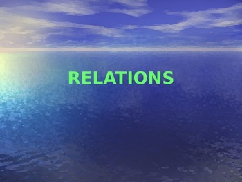 Relations PowerPoint Lesson - Introduction to Functions