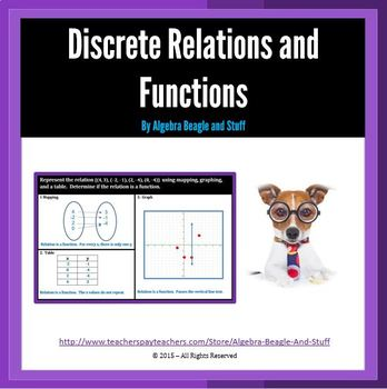 Relations as Maps, Tables, and Graphs.  Is it a Function?