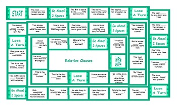 Relative Clauses Board Game