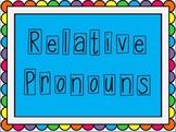 Relative Pronoun PowerPoint