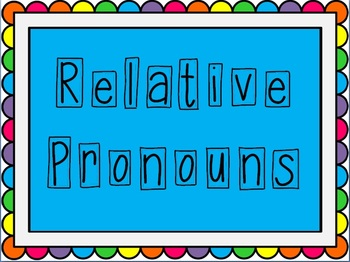 Relative Pronoun PowerPoint