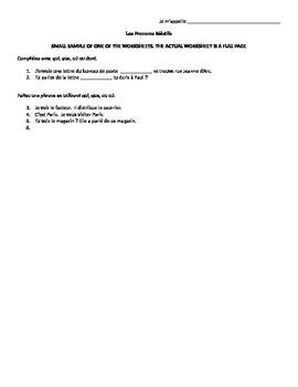 Relative Pronoun Worksheet Bundle
