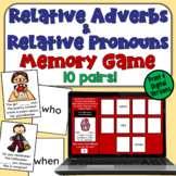 Relative Pronoun and Relative Adverb Memory Game