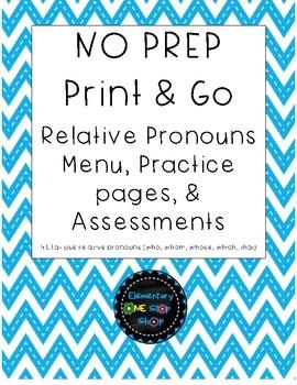 Relative Pronouns Test
