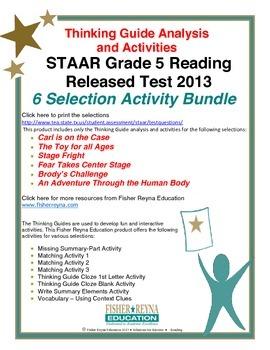 Released 2013 STAAR Analysis and Activities Bundle, Grade
