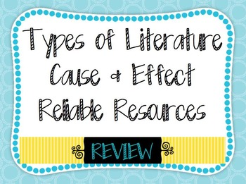 Reliable Resources Cause Effect Types of Literature Compre