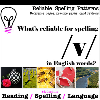 Reliable Spellings /v/ Reference Practice Review Printable