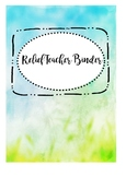 Relief Substitute Sub Binder Organiser Dividers Folder