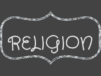 Religion Chalkboard Label