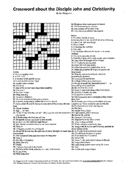 Religion,Crossword on the Apostle John and Chrisitianity,B