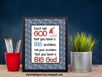Inspirational Quote Poster for Motivational Religion Educa