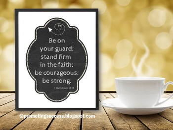 Bible Verse Poster Inspirational Quote Christian Graduatio