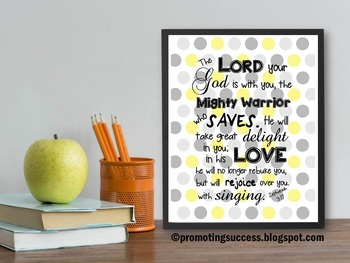 Christian Gift Bible Verse Quote Zephaniah 3:17 Religion H