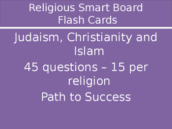 Religion Flash Cards - Judaism, Christianity and Islam-edi