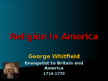 Religion - Key Figures - George Whitfield