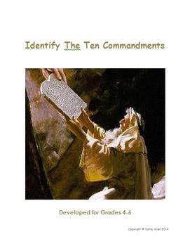 10 Commandments Grades 4-6
