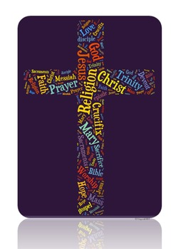 Religion Vocabulary image for Classroom Decoration Poster or Sign