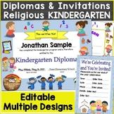 Religious, Christian Kindergarten Diplomas, Graduation Inv