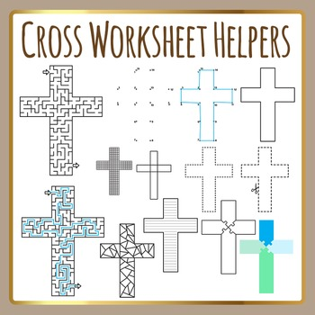 Religious Cross Worksheet Helpers Christian Clip Art for C