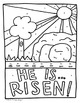 Religious Easter Coloring Page