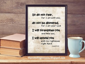 Do Not Fear Inspirational Christian Bible Verse Quote Post