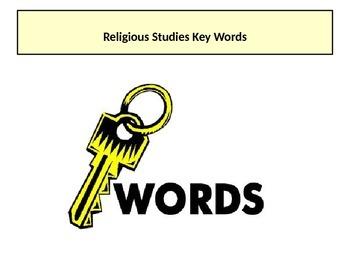 Religious Studies Key Words