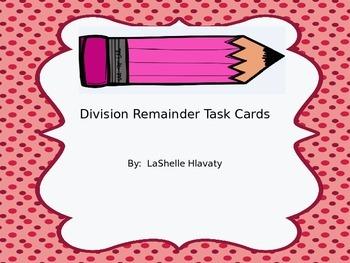Division Remainder Task Cards
