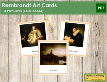 Rembrandt 3-Part Art Cards - Color Borders