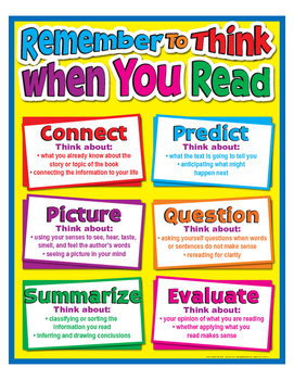 "Remember To Think When You Read Poster- 8½"" x 11"""