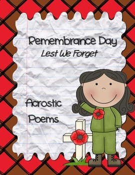 Remembrance Day Acrostic Poetry Pack