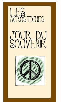 Remembrance Day Acrostics (FRENCH) Acrostiches du jour du
